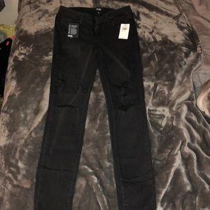 Paige Verdugo ankle carbon black destructed jeans